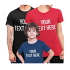 Customised Print Personalised Family T Shirt for Men Women Kids with Any Text Words