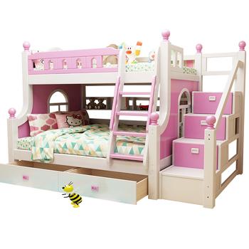 Kids Bedroom Furniture Wood Bunk Sets