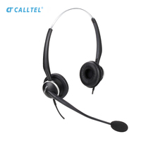 Call Center Noise Canceling Telephone Headset For Telephone Binaural