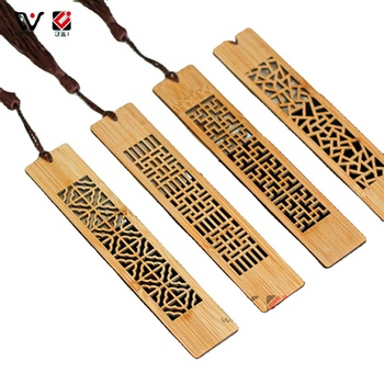 Classical Chinese Style Hollow Design Custom Bookmark Wooden Craft