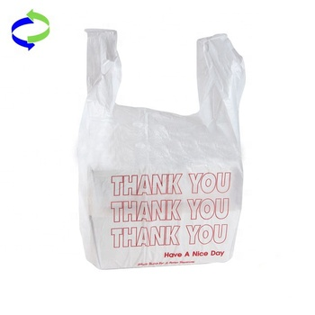 Cheap Different Colors Printed Plastic T-Shirt Bag