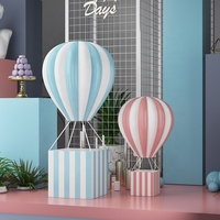 plastic fiberglass sculpture resin hot air balloon for window display visual decor