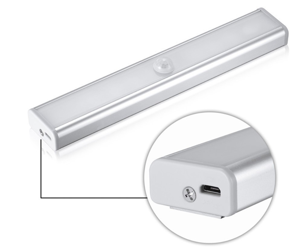 Shareus Potable 10 LED Closet Lighting Battery Powered Wireless Cabinet IR Infrared Motion sensor night light