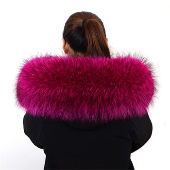 Design fashion wholesale detachable real fox fur collar women's