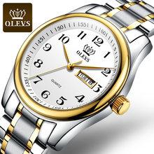 OLEVS оригинальные женские часы из натуральной кожи, водонепроницаемые, модные, благородные, элегантные, ремешок из нержавеющей стали, подарк...(China)