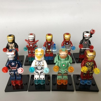 Super hero Avengers3 Iron mark37 man mark46 Compatible legoe block mini figures building brick Model kid Toy gift