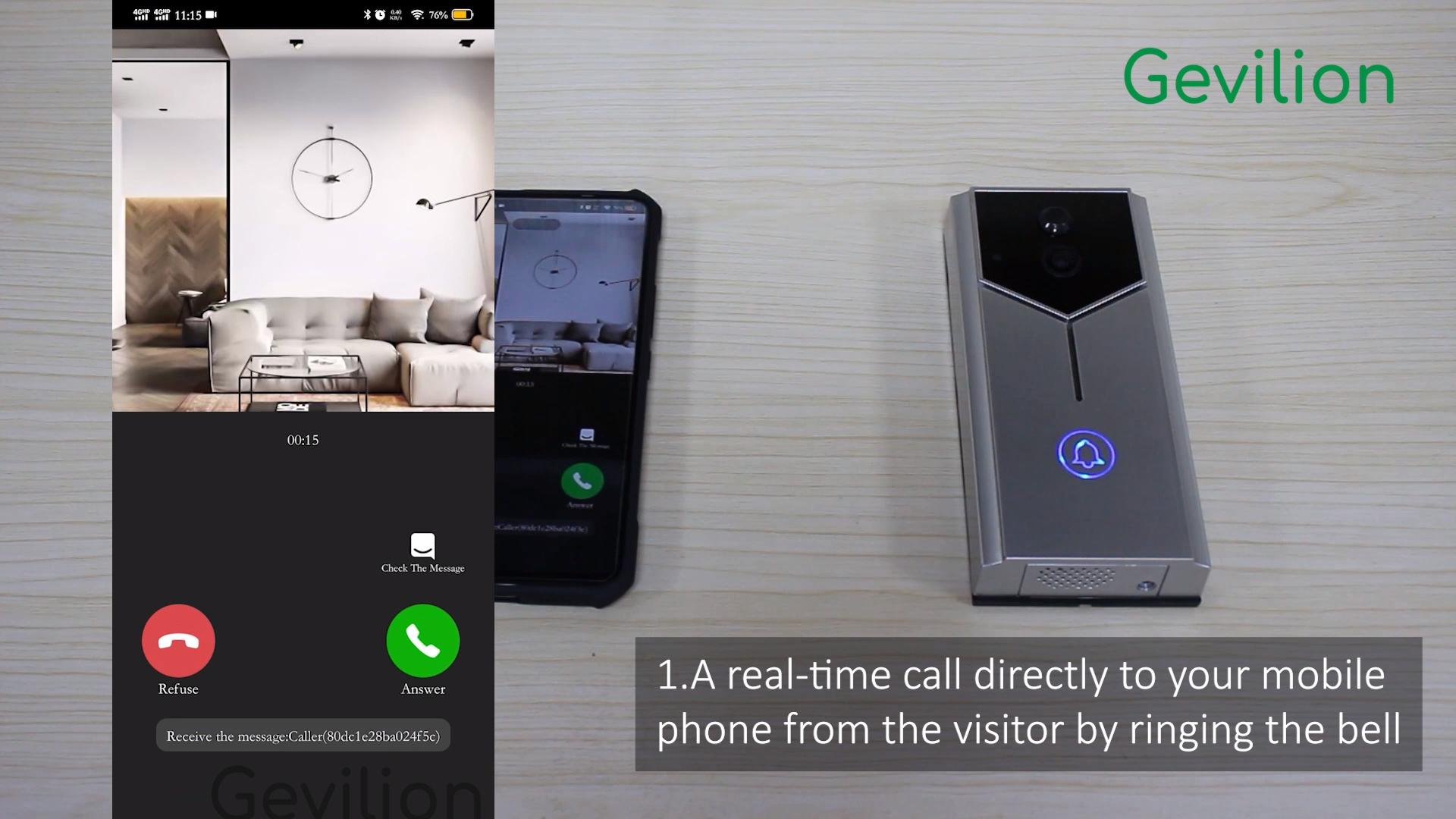 Smart Home Security Homemade Two Way Intercom Video Door Bell Wifi Doorbell Ring Camera