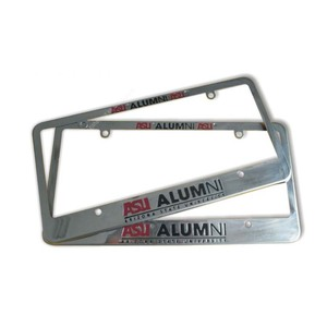 Custom metal american size chromed license plate frame car license plate holder