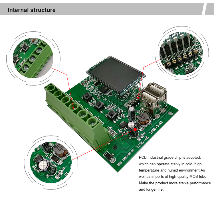 12V DC output bulb solar panel controller,Multi-function link smart solar controllers