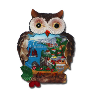 Customized resin fridge magnet souvenirs owl