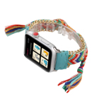 Multi Color Hand-Woven Knitting Wool Braided Leather Bracelet Replacement Watch Band For Apple Watch Series 1 2 3 4 5