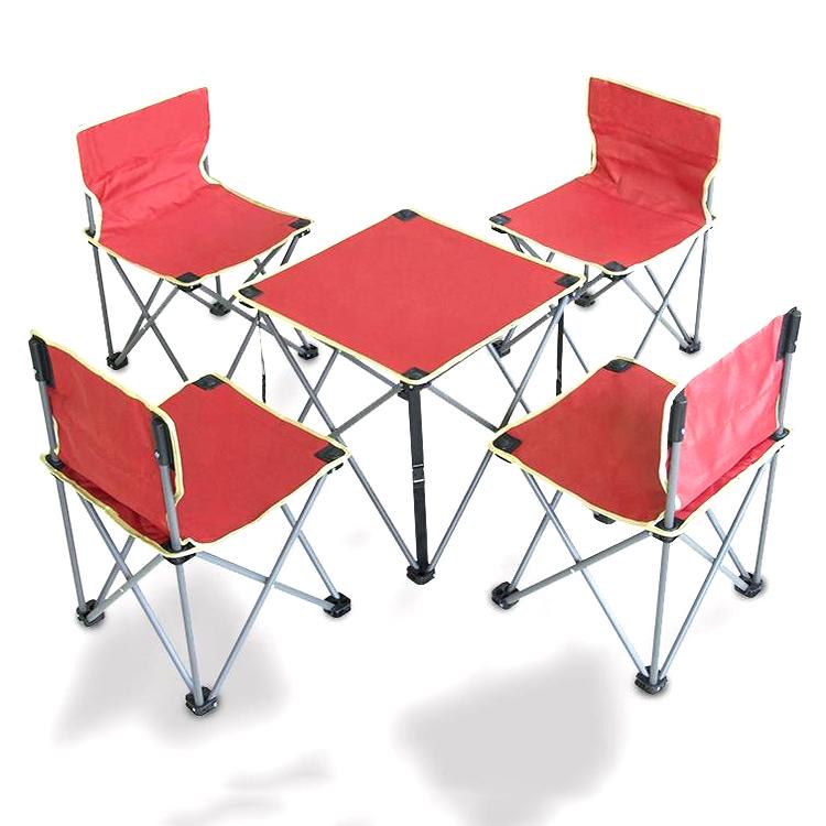 Juegos plegables de sillas y mesas de Camping juegos de silla plegable metálica
