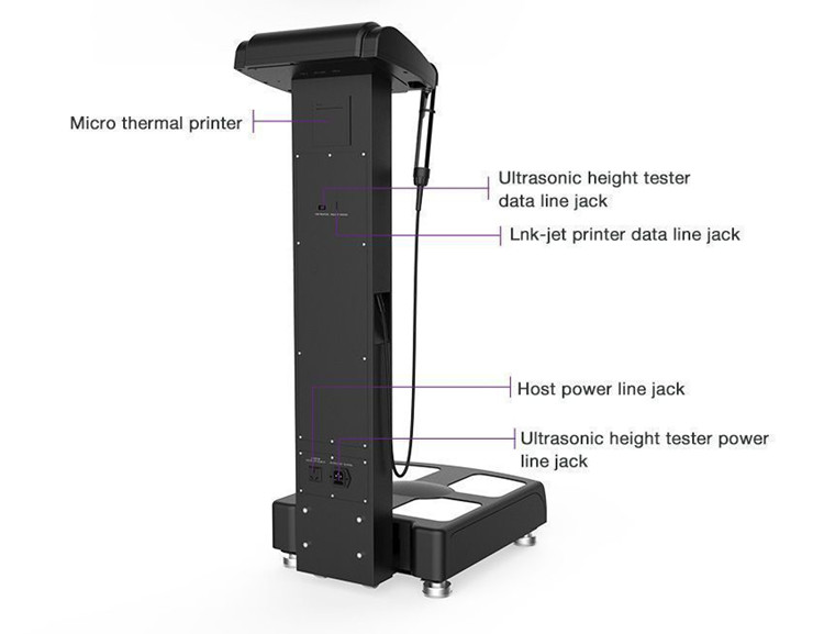 Bmi scale weight measuring machine height analysis