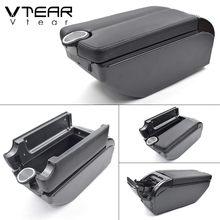 Vtear для Dacia Renault sandero, аксессуары, автомобильный подлокотник, кожаный подлокотник, usb ящик для хранения, автомобильный стиль, украшение интерь...(Китай)