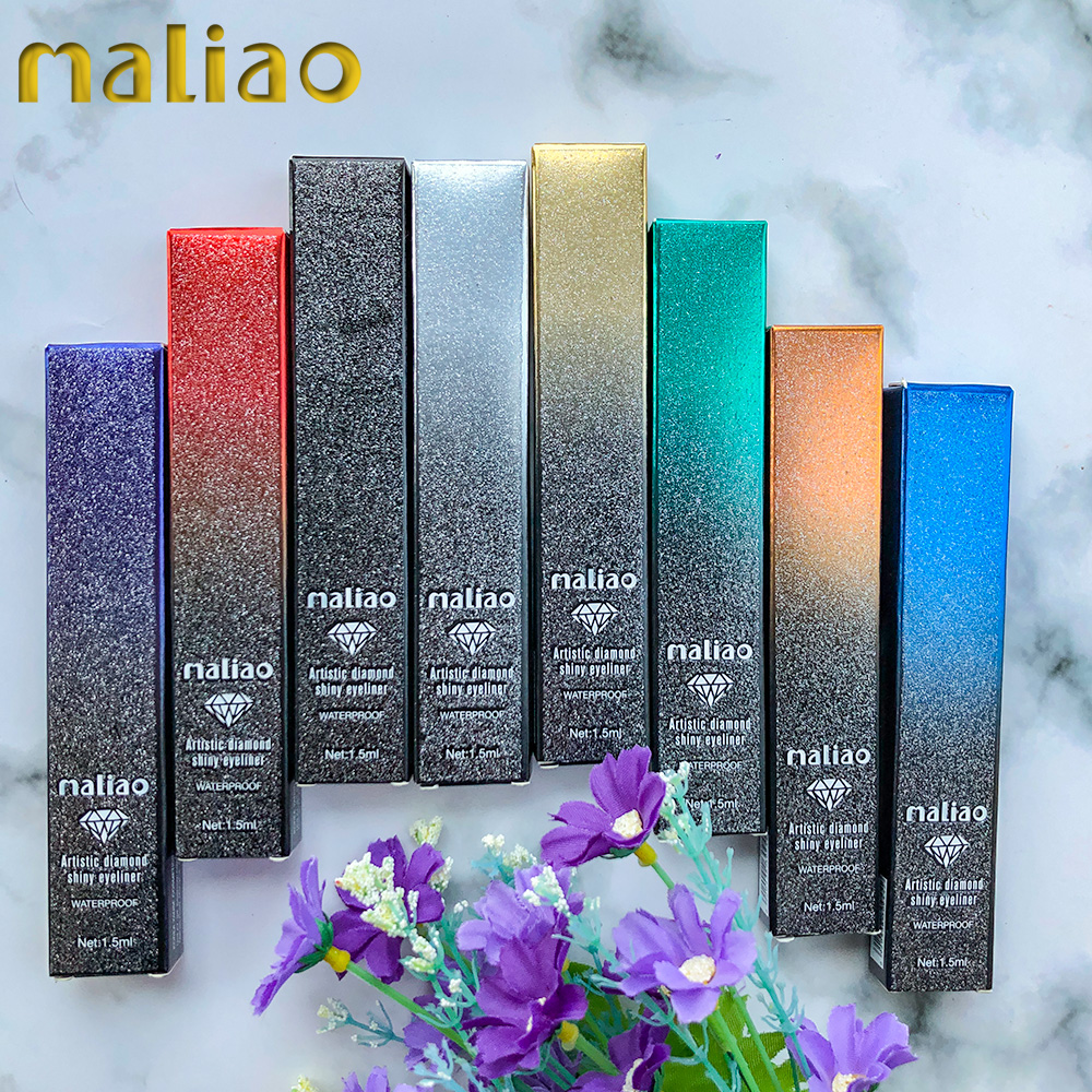 Maliao Cosmetic Make Up Eye Liner Long Lasting Colors Curved Eyeliner Pen