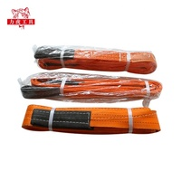 CE GS high quality flat polyester 10 ton lifting slings price