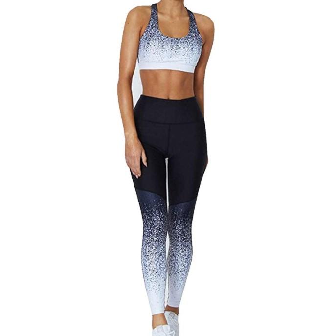 Spor giyim seti özel egzersiz giyen dropshipping giysileri bayan iki parçalı setleri yüksek waisted egzersiz tayt