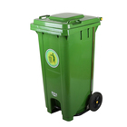 Recycle HDPE Green/Grey/Blue/Red 120L/240L/360L Color Foot Pedal Garbage Bin