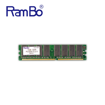 RamBo Memory Modules long dimm DDR 400mhz PC3200 CL2.5 16chips 1GB desktop ram