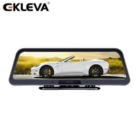 "2019 New Arrival 4G WIFI 10"" Touch Screen Streaming FHD Dash Cam With ADAS GPS Android 5.1 Dual Lens Car Camera"