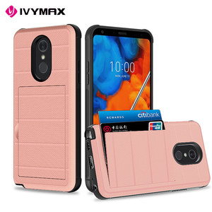 Slide Credit Card Slot Holder Phone Case for LG Stylo5 Case For lg Stylo 5