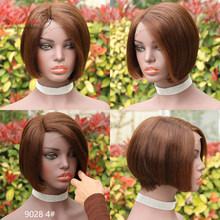 Парик Pixie Cut, 100% человеческие волосы, парики с детскими волосами, предварительно выщипанные волосы Arabella Remy, 130% плотность, кружевной парик, бок...(Китай)