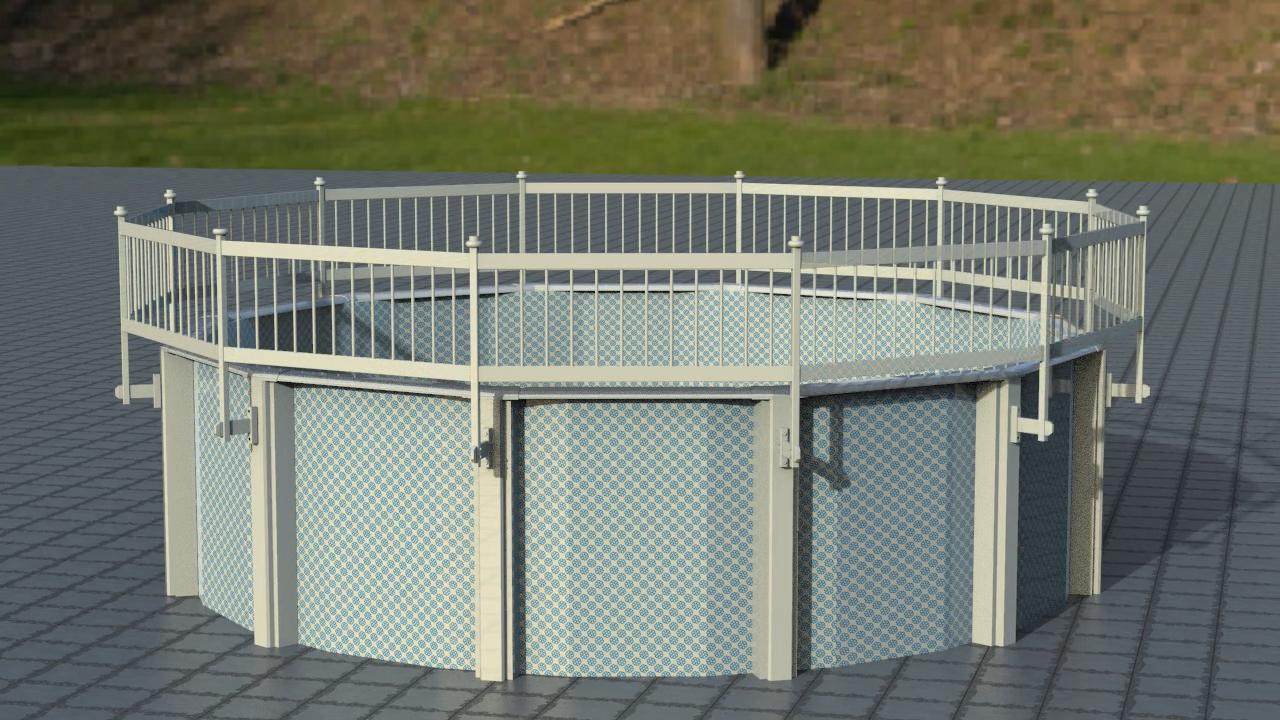 Fentech без ржавчины белый пластиковый бассейн из ПВХ панели забора