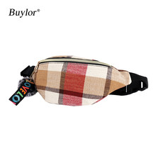 Женская поясная сумка Buylor, модная поясная сумка в стиле хип-хоп, Повседневная нагрудная сумка, легкая поясная сумка, новая поясная сумка(Китай)