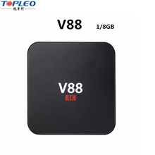RK3229 64Bit Quad Core tv box 1080 <span class=keywords><strong>OS</strong></span> Lollipop 1G/8G WF 4 USB Host soporte caja android 6,0 v88