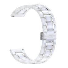 Роскошный керамический ремешок для часов Samsung galaxy active 46/42, для Amazfit Pace/Stratos 2 /Bip Smart Watch, керамический ремешок(Китай)
