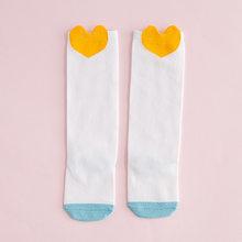 1 пара, весенне-летние детские гольфы для детей от 0 до 6 лет Длинные Носки с рисунком для новорожденных, хлопковые носки без пятки для девочек(China)