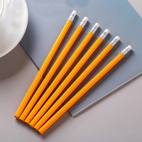 2020 High Quality 7.5 inch hb drawing yellow wooden pencil with eraser