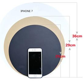 36cm Black Color Round Art Circle Dot Set Painting Paper Pack