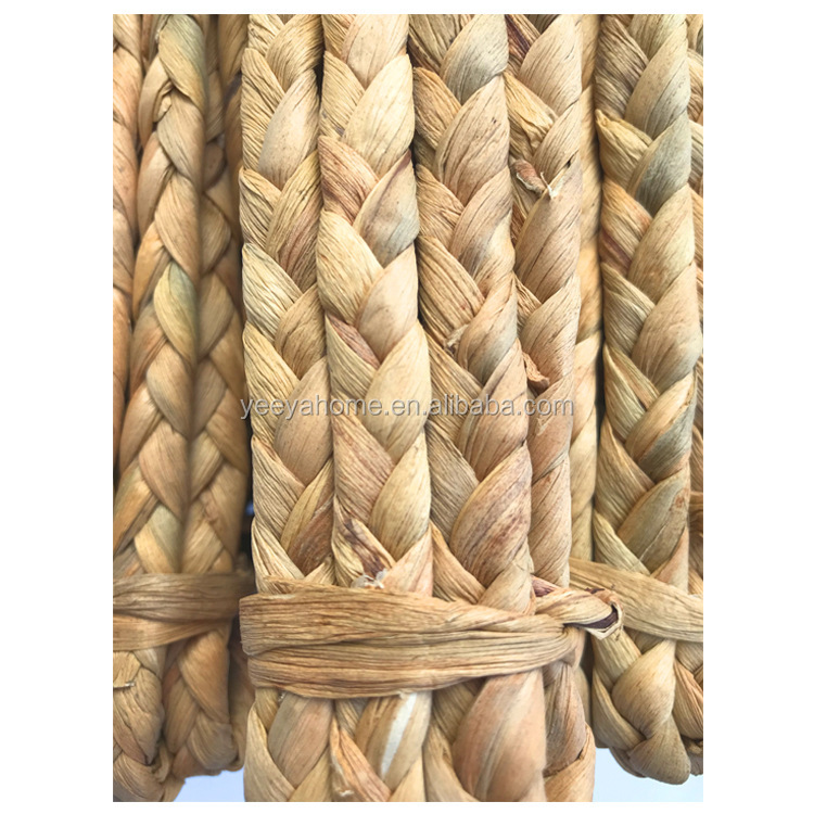 braided natural seagrass dried water hyacinth materials for furniture