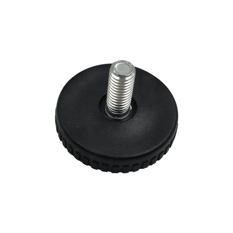 M8 Round Black Plastic Furniture Glide Cabinet Table Leveling Feets Adjustable Screw Chair Legs Height Adjusters Extenders