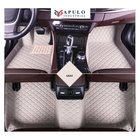 XPE leather interior 3d car carpets custom floor foor mats luxury leather mats from China