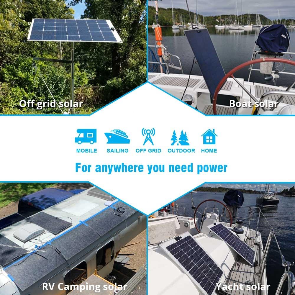 Walkable солнечная панель 110 Вт Анти Скользкая поверхность Полу Гибкая солнечная панель грубый ETFE из Японии для морской Риверсайд лодки яхты
