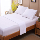 hotel linen 200TC plain dyed 100% cotton 4 pcs bed sheet set