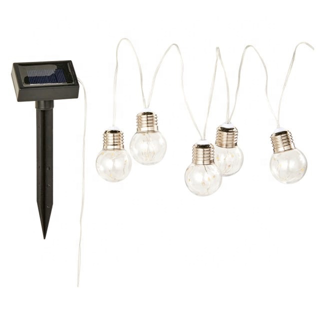 Weatherproof Hanging Edison LED Bulb Light String Solar Powered Wedding Festoon Garden Patio Night Lights