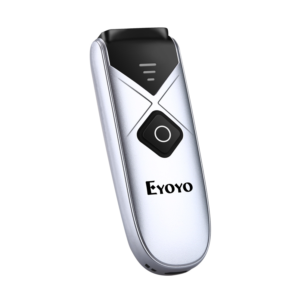 Eyoyo Mini Wireless Barcode Reader with USB Wired/2.4G/B-T Connection Portable 1D  CCD B-T Barcode Scanner