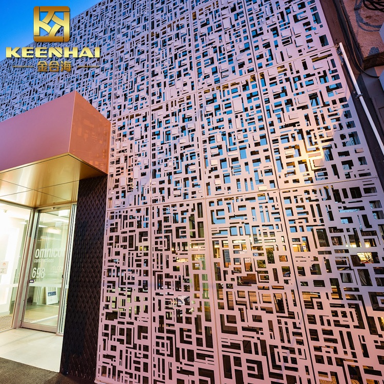 Multifunctional Outdoor Laser Cutting Aluminum Curtain Wall facade panel