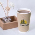 Ripple Paper Coffee Cups Hot Sale 8oz Disposable Eco Friendly Single/Double/Ripple Wall With Lid