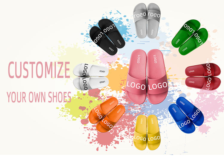 Designer Slippers Oem Logo Footwear Design Your Own Slides Sandals Women Custom Shoes