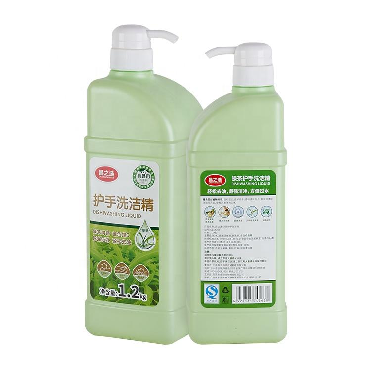 OEM/ODM Bambino Utensile Eco-Friendly Verde Tè di Pulizia Per Piatti Liquido