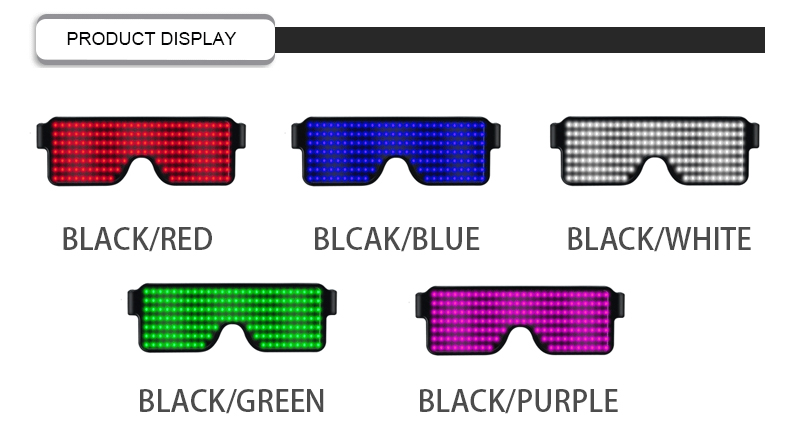 New 11 Modes Quick Flash Led Party Toys USB charge Luminous  Christmas Concert light Glasses