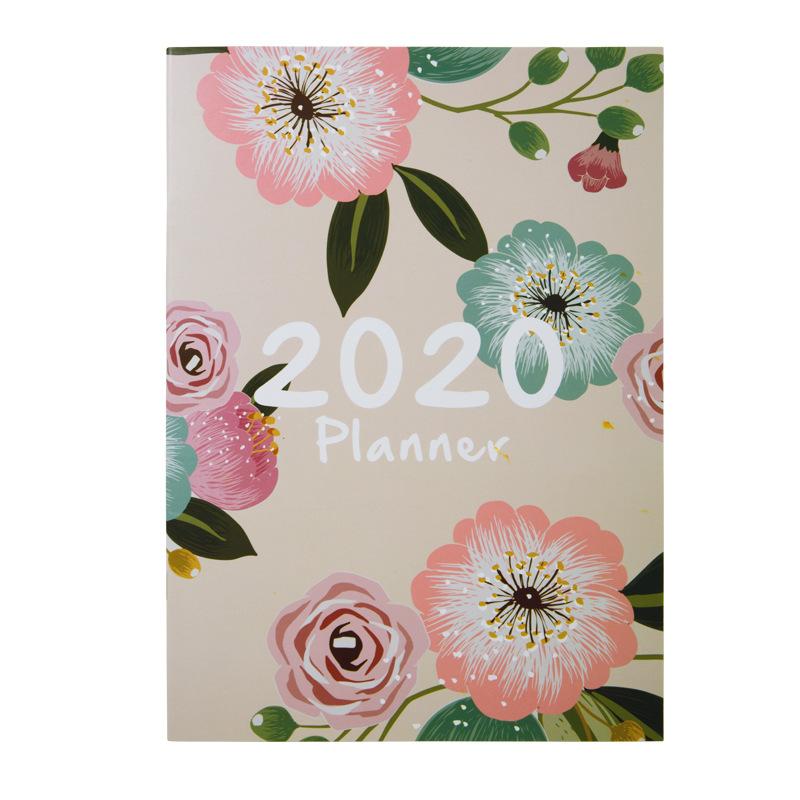 A4 2020 Agenda Escolar 365 наклейки для дневника ноутбука 12 месяцев с самостоятельным наполнением Kawaii планировщик Note Pad Еженедельный школьный планиров...(Китай)