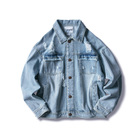 Wholesale Hot Fashion Casual Washed Denim Mens Jacket Dress