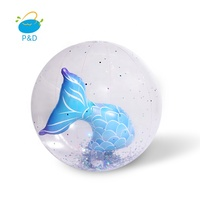 Custom inflatable Beach ball with 3D character for sales