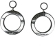 Retail Old School Holiday Acrylic Circle Black Eardrop For Ladies