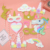 Hot selling 12pcs Unicorn set decoration party supplies set Unicorn photo props set